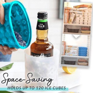 2-in-1 Silicone Ice Cube Maker
