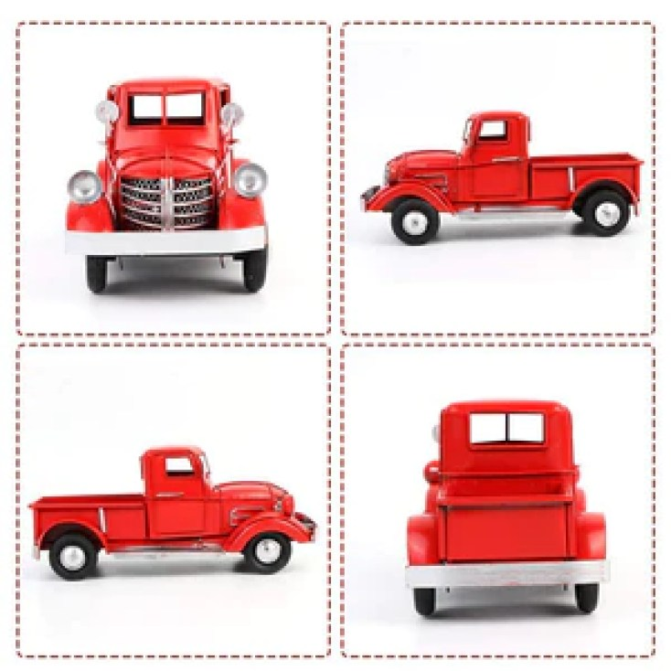Christmas vintage red truck
