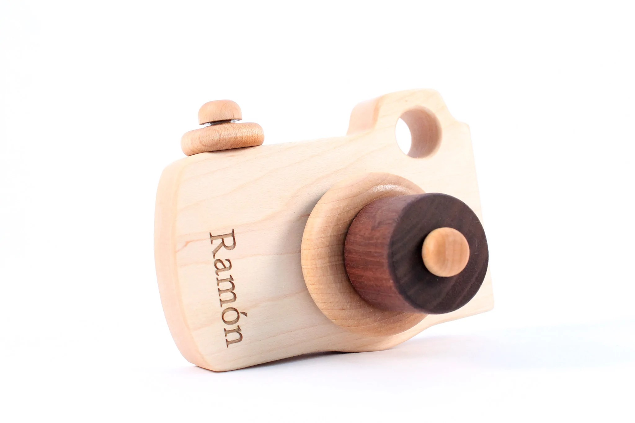 Wooden Toy Camera Smiling Tree