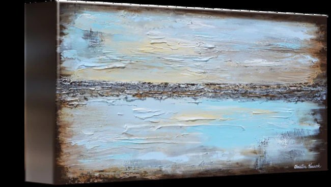 GICLEE PRINT Art Blue Abstract Painting Modern Coastal