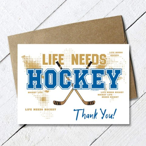 Hockey Thank You Cards Saucy Mitts Saucy Mitts Hockey