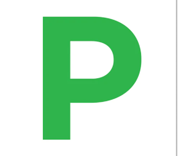 L Plate And P Plate Stickers