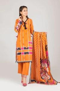Bonanza Satrangi RSO213P80  Orange Summer Collection