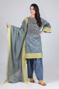 Bonanza Satrangi RSO213P92A  Gray Summer Collection