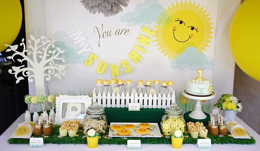 You Are My Sunshine First Birthday Party Ohitsperfect