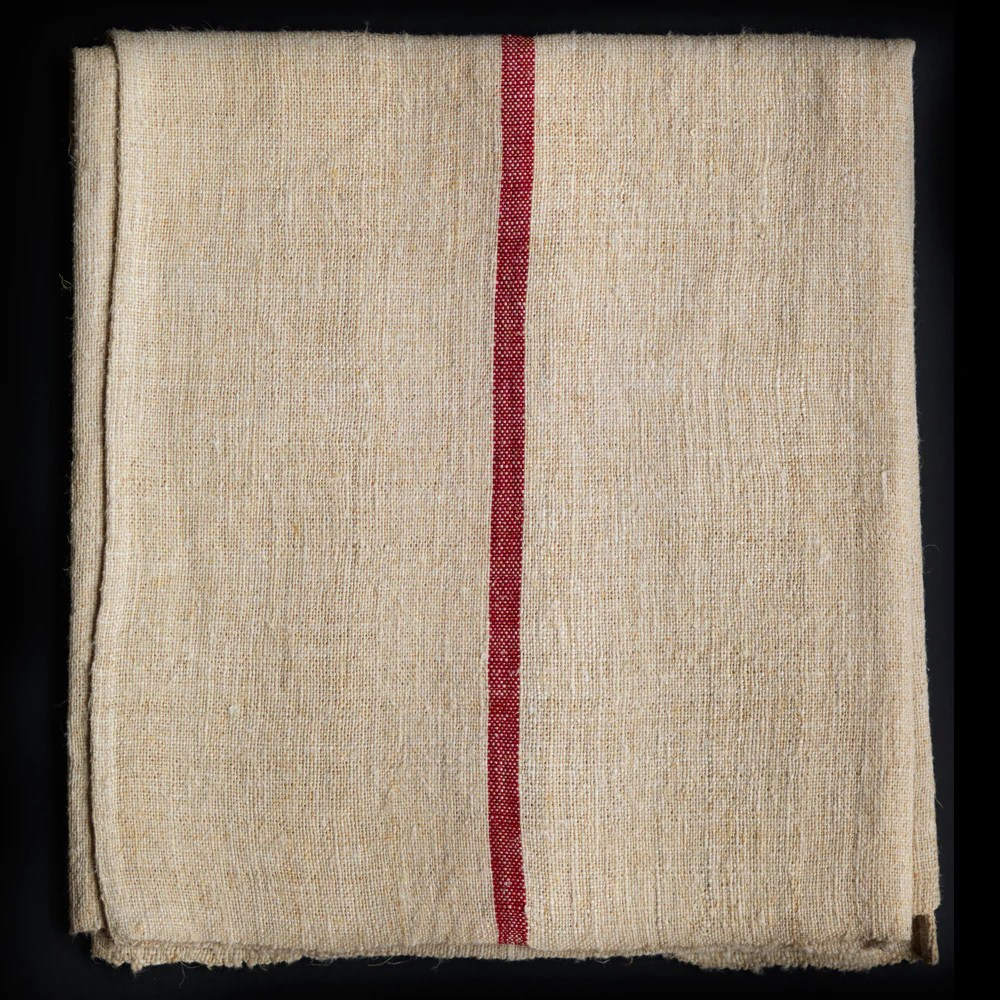 Large Linen Cloth Table Runner With Red Stripe A G Hendy