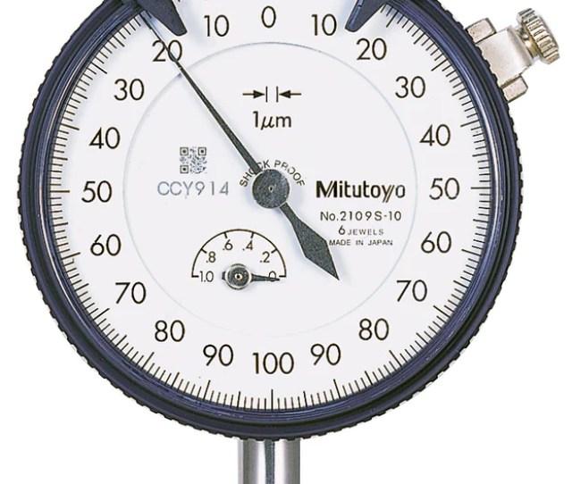 Mitutoyo 2109s 10 Dial Indicator 0 1mm Range 0 001mm Graduation