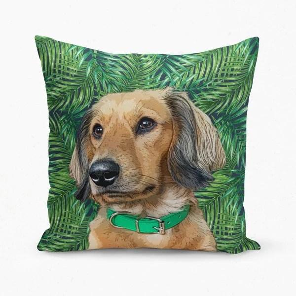 custom pet art pillow