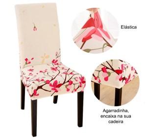 Capa Elástica para Cadeira - Estampada - Meça o tamanho da sua cadeira