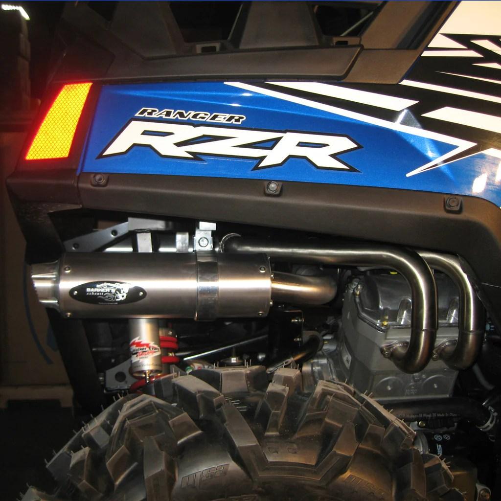 polaris rzr 800 full dual exhaust system