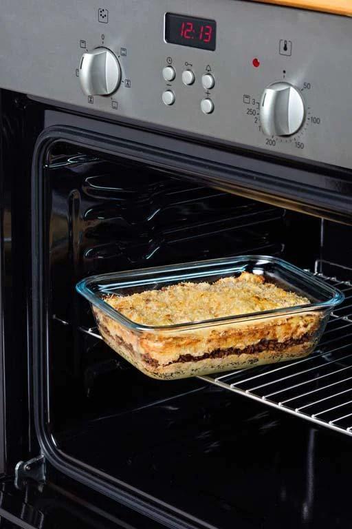 glass rectangular storage leak proof dish with lid ocuisine cookware