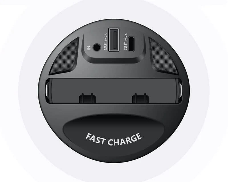 Extended Fast Output: It not only supports Qi standard wireless fast charging, but also has the USB and Type-C fast output function