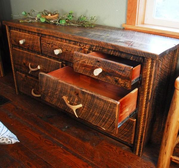Buckboard Rough Cut Dresser Niangua Furniture