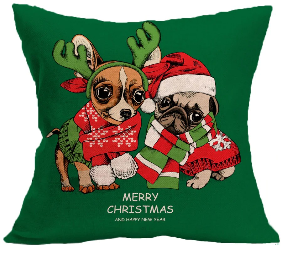 happy holiday pillow cases catchpets