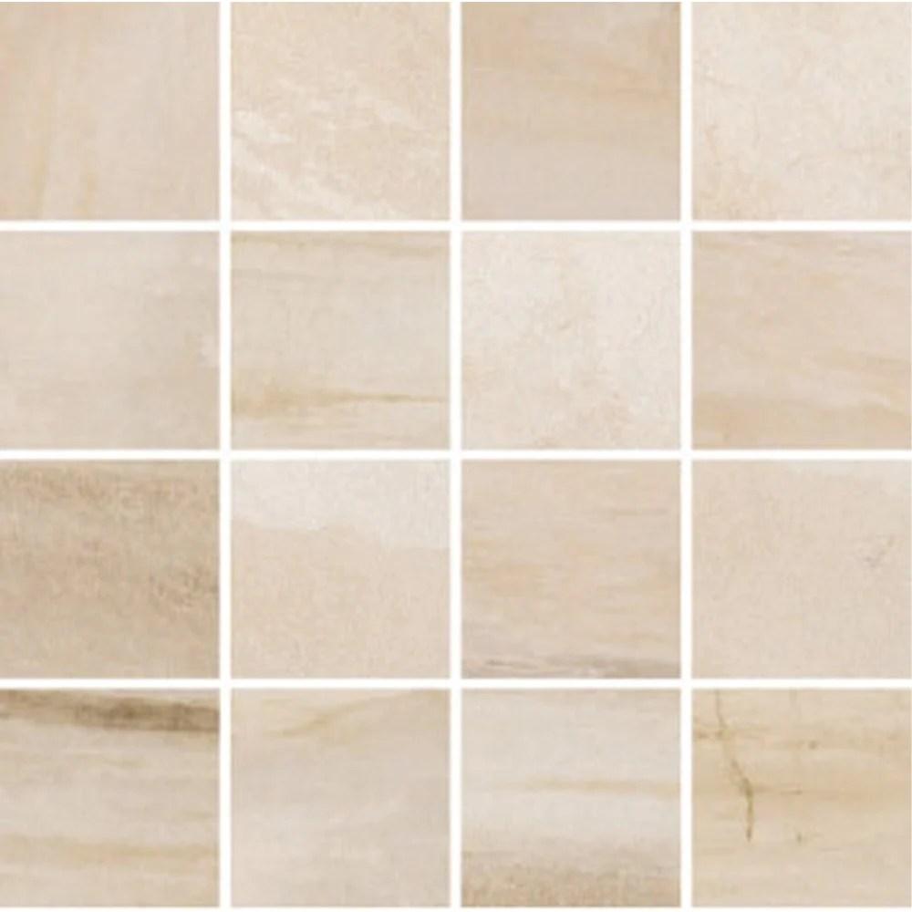 cascade 3x3 beige mosaic porcelain tile