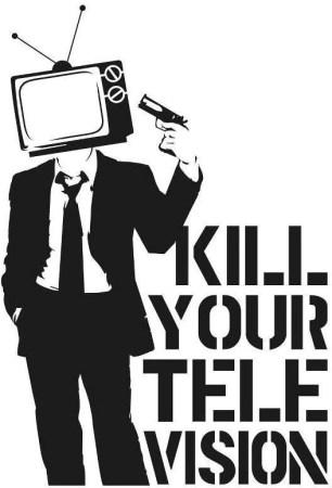 Kill your television - Die Cut Vinyl Sticker Decal – Blasted Rat