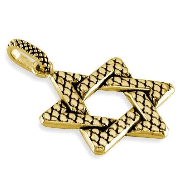 David Star Gold Rings Nugget