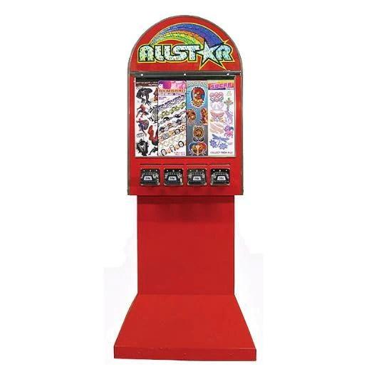 4 Column Allstar Sticker Tattoo Vending Machine On