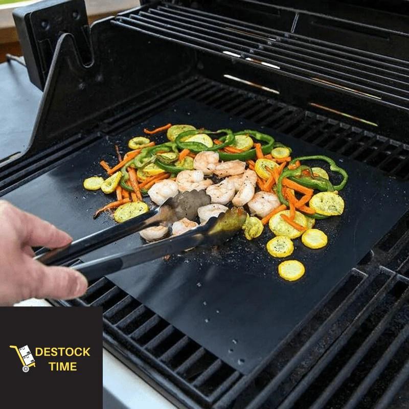 tapis de cuisson barbecue noir