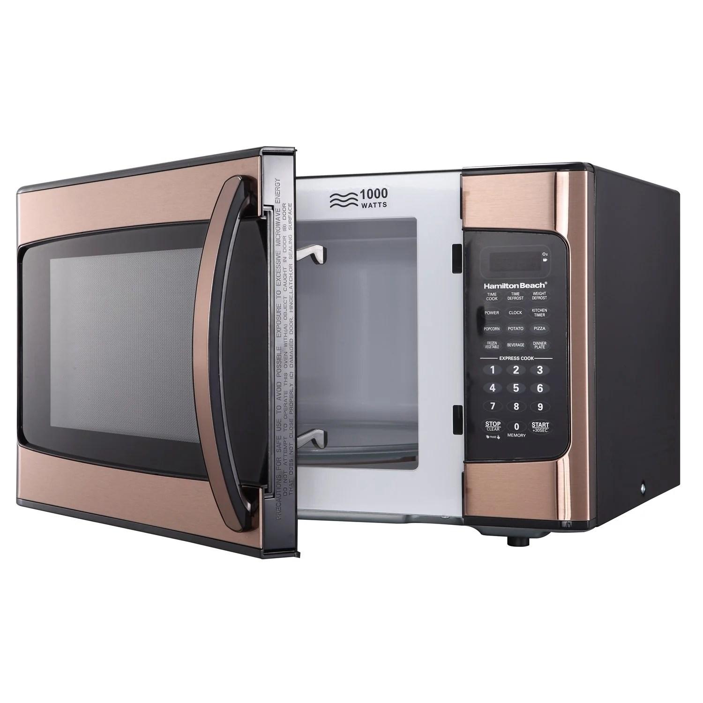 hamilton beach 1 1 cu ft 1000w copper microwave
