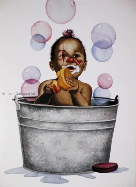 Bubbles 19x16 Print Kenneth Gatewood Its A Black