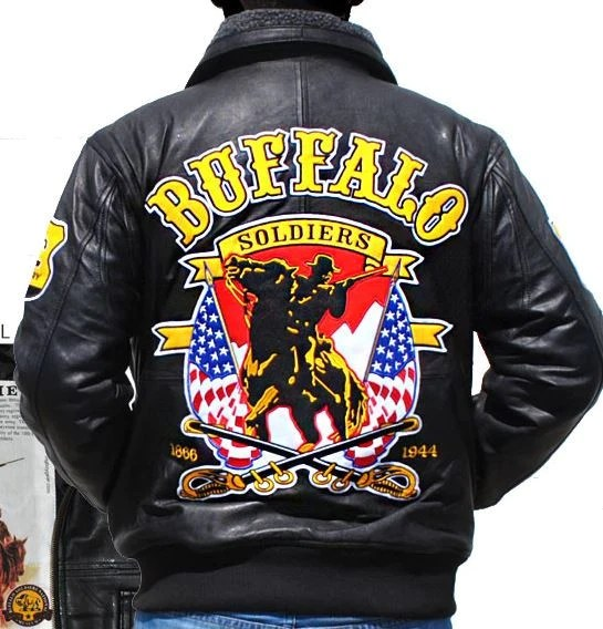 Buffalo Soldiers Jacket Leather BLJC Its A Black