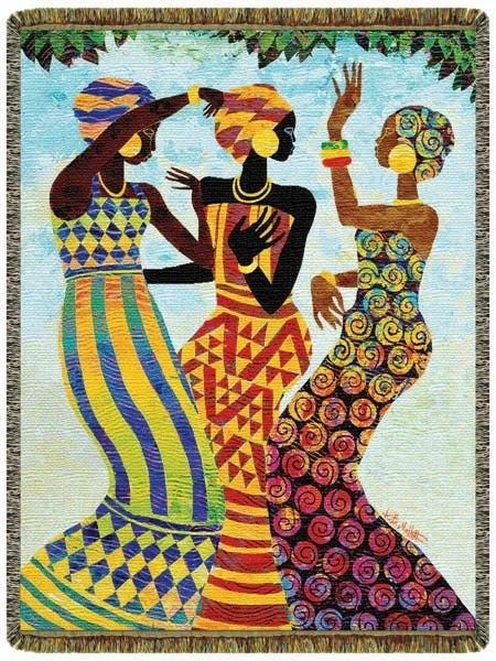 Celebration By Keith Mallett Tapestry Throw Its A