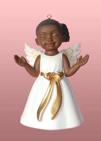 Angel Ornament Figurine Worship White Dress Its A