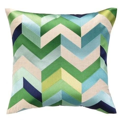 arrow blue green throw pillow
