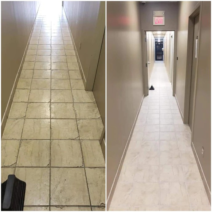 tile grout cleaning colour sealing