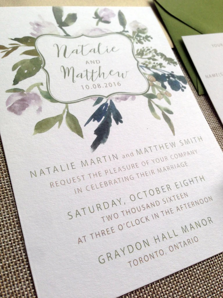 Rustic Wedding Invitation Cardstock
