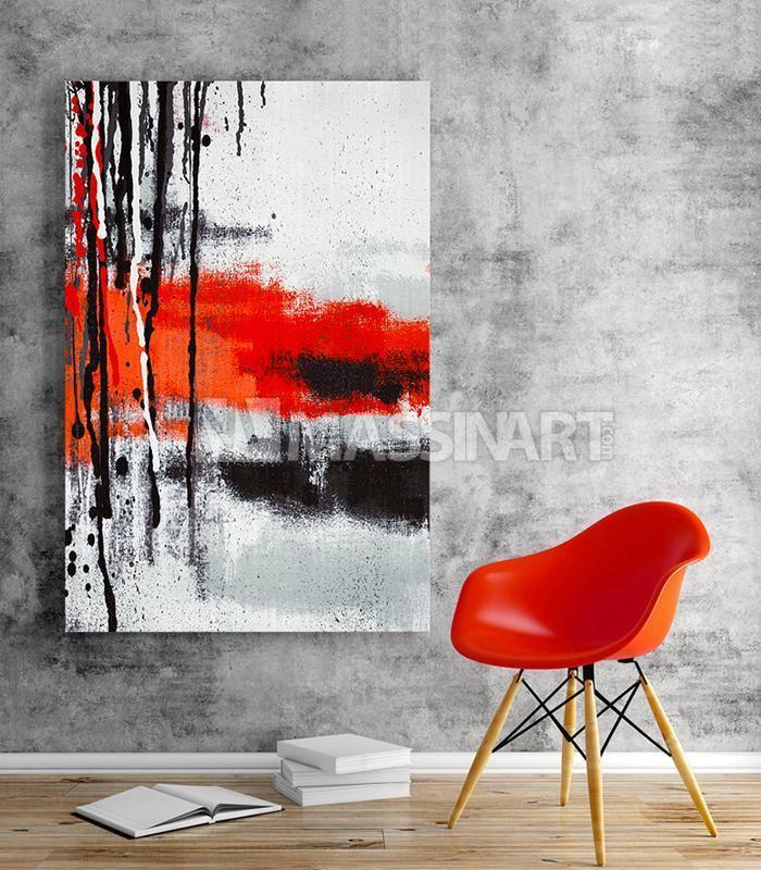 Le Rouge Et Le Noir Tableau Decoratif Moderne Massinart Senegal