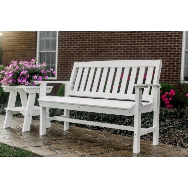 classic mission 4ft recycled plastic bench