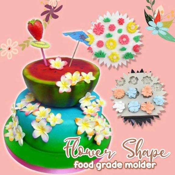 Silicone Flower Cake Mold Border