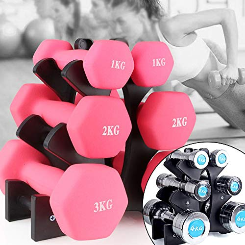 gjcrafts 3 tier dumbbell rack detachable dumbbell tree stand vertical dumbbell weight holder small tower compact floor bracket for home gym exercise