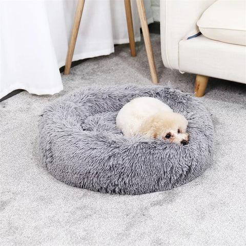 dogsking fluffy dog bed