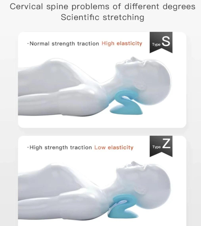 s wave neck posture pillow