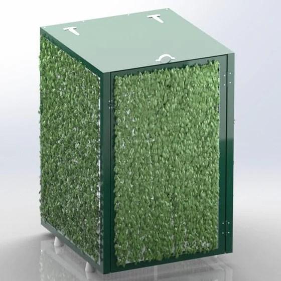 abri cache poubelle simple verdoyant
