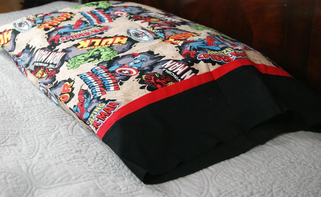 avengers inspired action hero bed pillow case set
