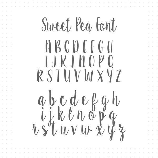 sweet pea font # 7