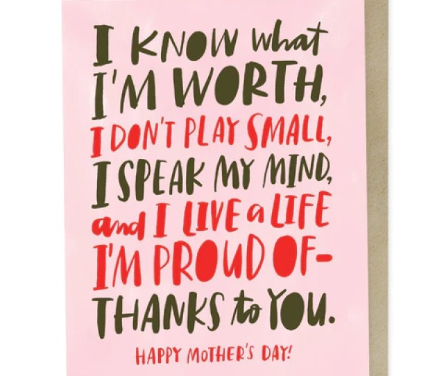 Emily Mcdowell Know My Worth Mothers Day Card