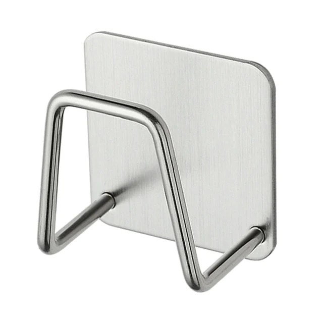 stainless steel portable suction cup drain rack cleaning cloth shelf dish drainer sponge holder sink rack kitchen accessories