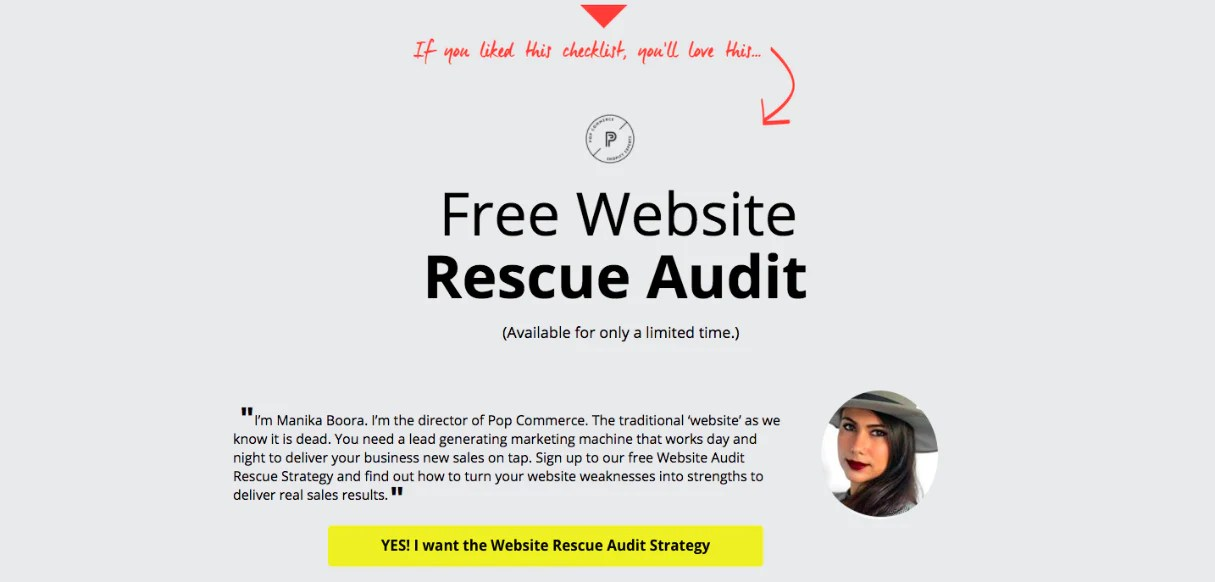 Finding web design clients: Free website rescue audit
