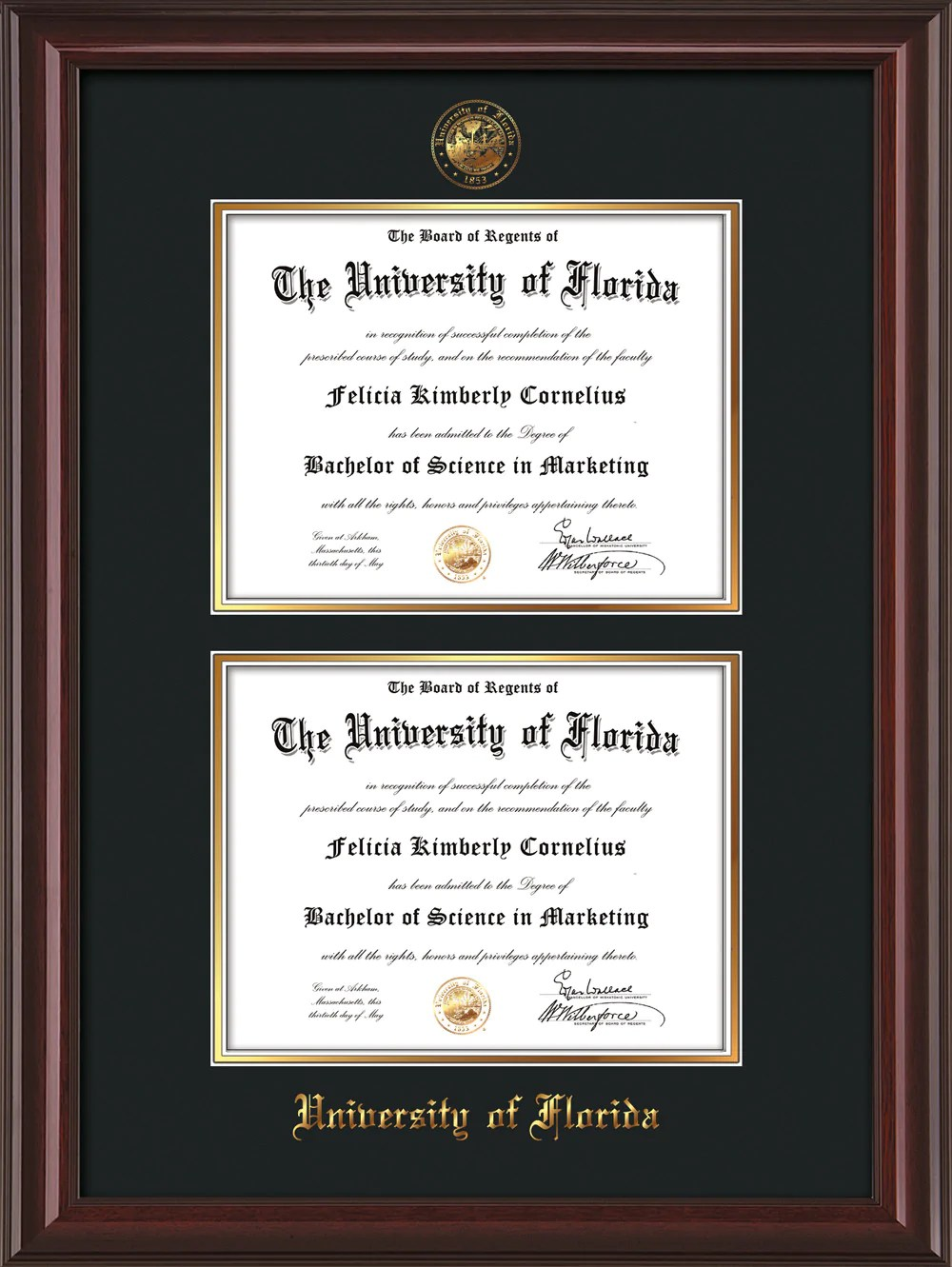 Contemporary Texas Tech Diploma Frames Sketch - Framed Art Ideas ...