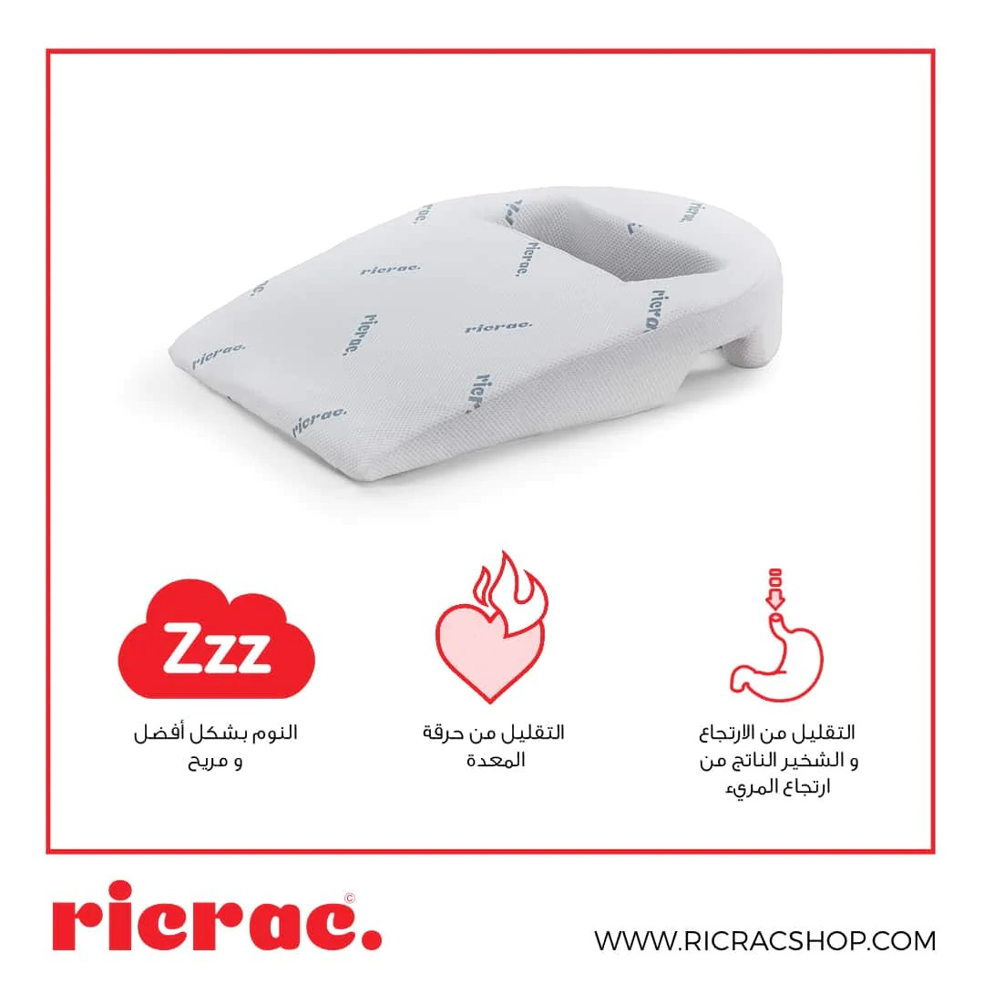 wedge pillow with an arm hole radon
