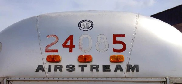 Airstream lettering on the exterior