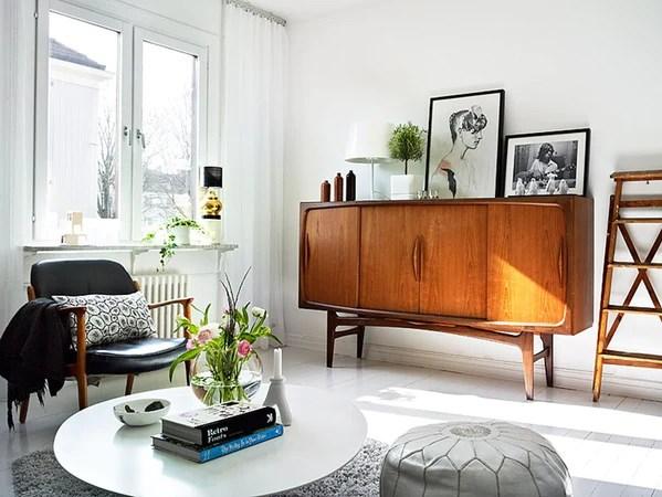 Small danish teak mid century sideboard in swedish house