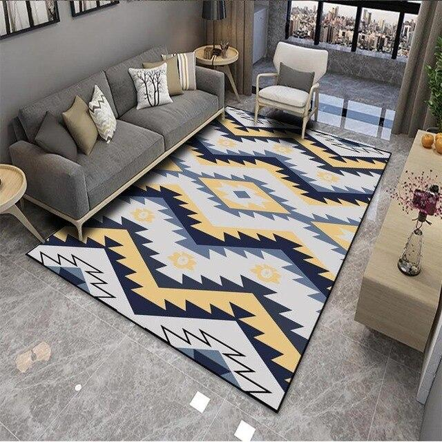 tapis scandinave noir et blanc tapis