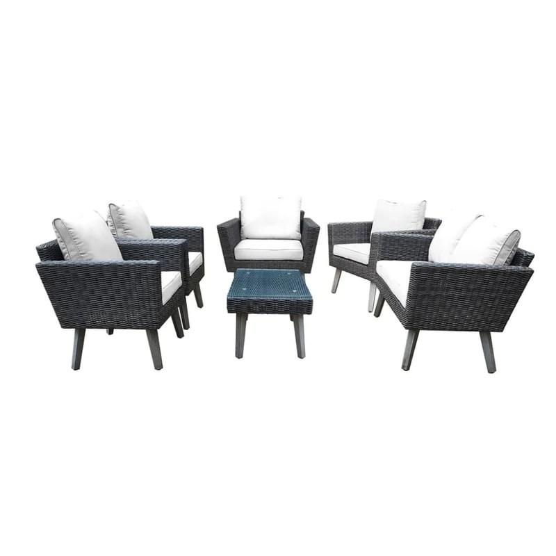 dukap kotka 6 piece wicker outdoor patio sofa seating set