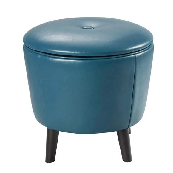 jetsons small round storage ottoman